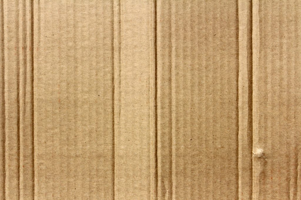 A sheet of cardboard up close, as an example of the material moving boxes Brooklyn are made of.