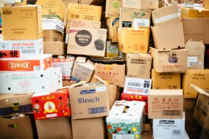 There are many places to find packing supplies, including free cardboard boxes.