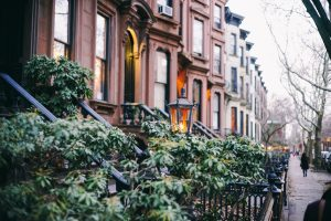 A row of houses in Brooklyn.