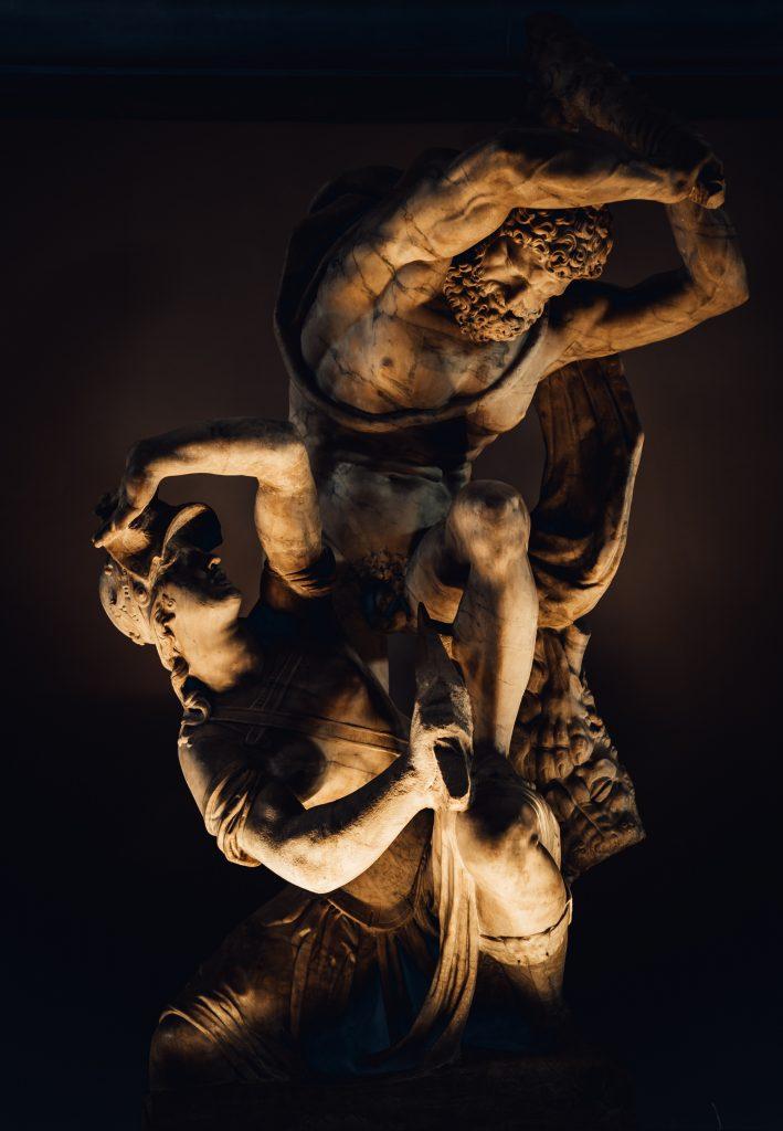 A classical statue.