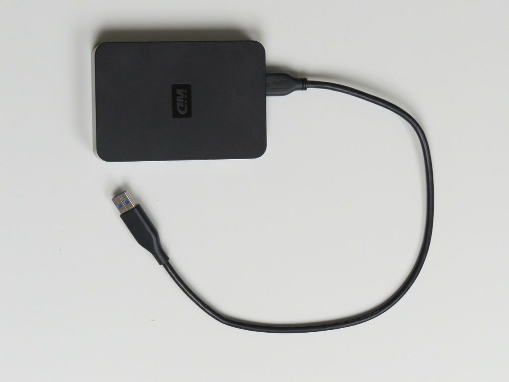 A removable hard drive.