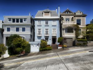 A crooked street in San Fran.