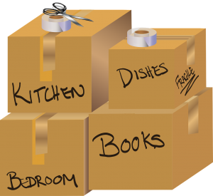 stay healthy on moving day - labeled boxes