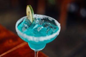 Light blue cocktail
