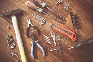 Pack your hand tools in a proper way, and make sure you don't lose the smaller items such as nuts and bolts.
