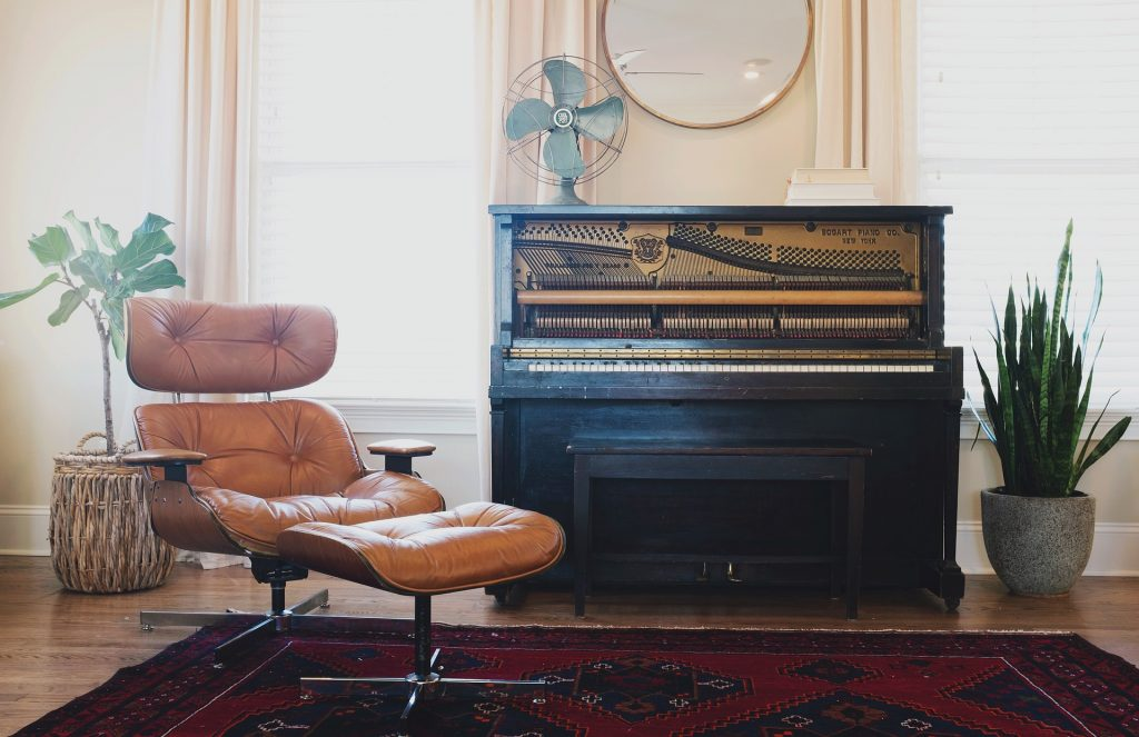 a piano inside a household representing piano moving Manhattan