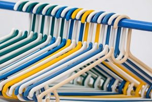 Use hangers to pack your clothes.