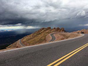 Long road highway