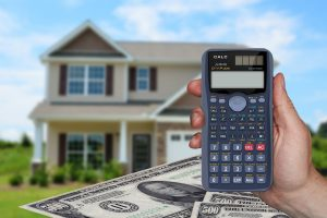 Calculator, money, house