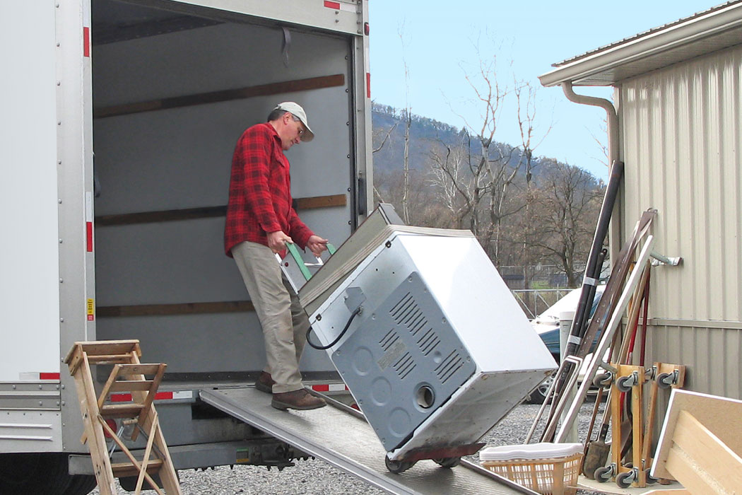 Man Loading The Moving Truck