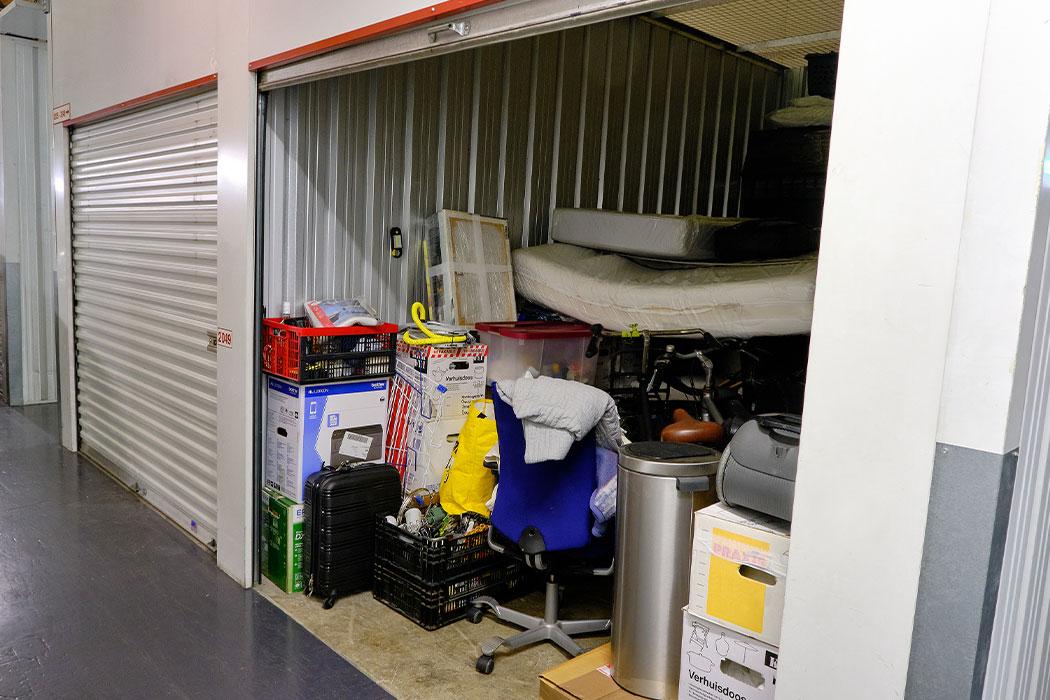 A self-storage unit-indoor