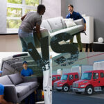 Moving Labor Vs Traditional Movers Concept